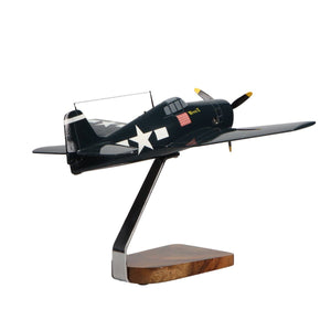 Aircraft Models - Grumman F6F Hellcat Limited Edition Large Mahogany Model