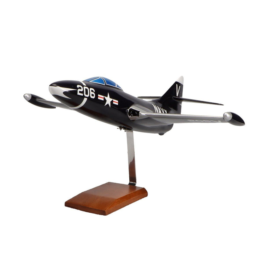 Aircraft Models - Grumman F9F-5 Panther Limited Edition Large Mahogany Model