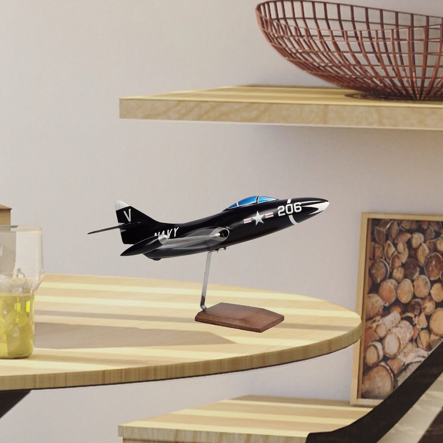 Grumman F9F-5 Panther Limited Edition Large Mahogany Model