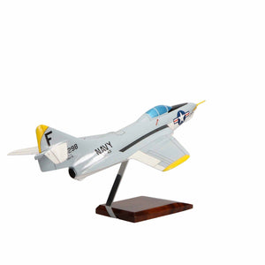 Aircraft Models - Grumman F9F-8 Cougar Limited Edition Large Mahogany Model