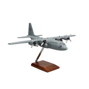 Aircraft Models - Lockheed C-130H Hercules (Grey) Limited Edition Large Mahogany Model