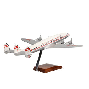 Aircraft Models - Lockheed L-1049 Super Constellation TWA (Trans World Airlines) Limited Edition Large Mahogany Model