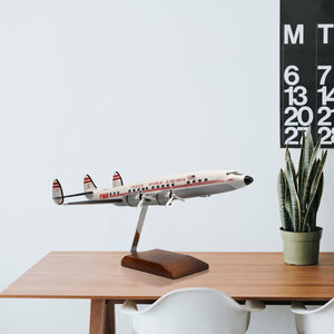 Lockheed L-1049 Super Constellation TWA (Trans World Airlines) Limited Edition Large Mahogany Model