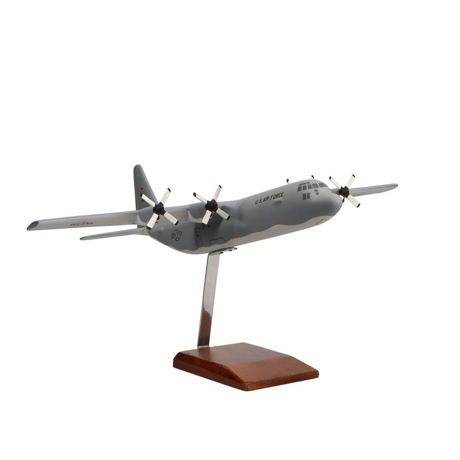 Aircraft Models - Lockheed Martin C-130J-30 Hercules Limited Edition Large Mahogany Model