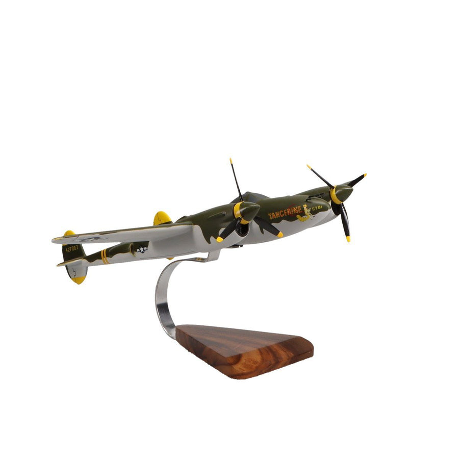 Aircraft Models - Lockheed P-38 Lightning Limited Edition Large Mahogany Model