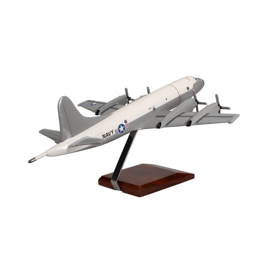 Aircraft Models - Lockheed P-3C Orion (Hi-Vis White/Grey) Limited Edition Large Mahogany Model