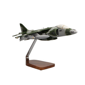 Aircraft Models - McDonnell Douglas AV-8B Harrier II Limited Edition Large Mahogany Model