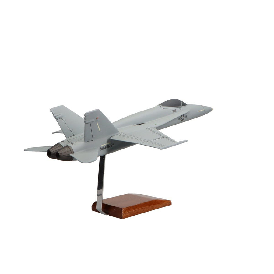 Aircraft Models - McDonnell Douglas F/A-18A Hornet U.S. Marine Corps Limited Edition Large Mahogany Model