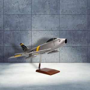 North American F-86F Sabre Limited Edition Large Mahogany Model