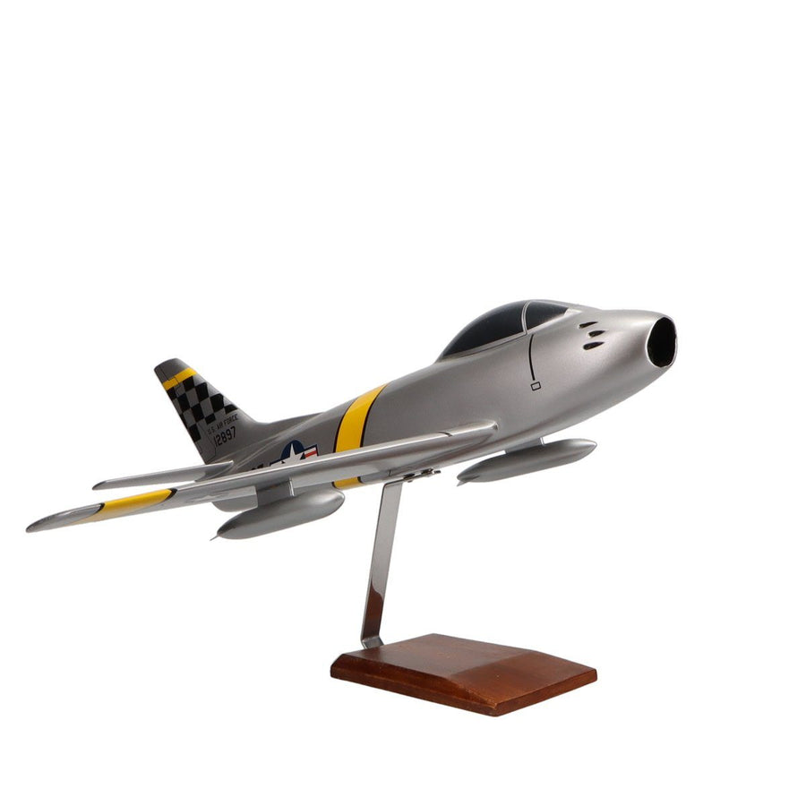 Aircraft Models - North American F-86F Sabre Limited Edition Large Mahogany Model