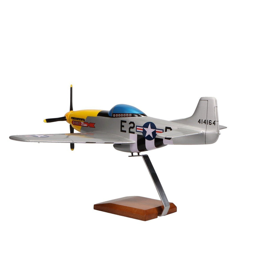 "Aircraft Models - North American P-51D Mustang ""Detroit Miss"" Limited Edition Large Mahogany Model"
