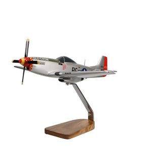 "Aircraft Models - North American P-51D Mustang ""Old Crow"" Limited Edition Large Mahogany Model"