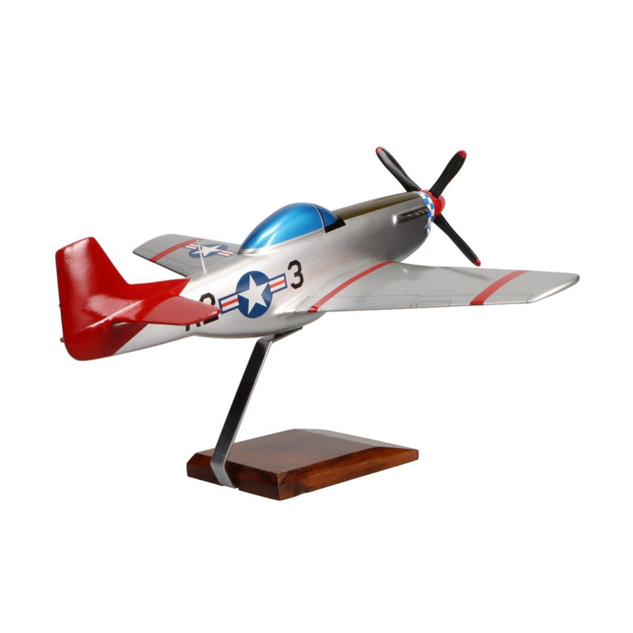 "Aircraft Models - North American P-51D Mustang ""Tuskegee Airmen"" Limited Edition Large Mahogany Model"