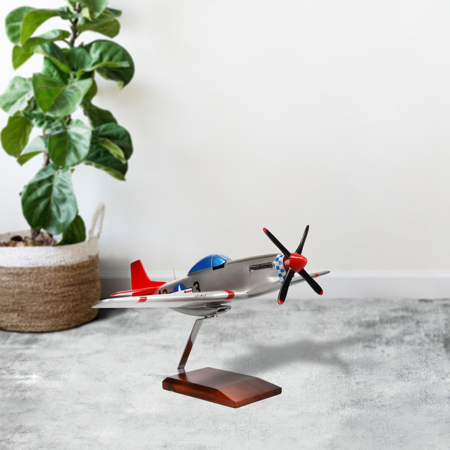 "North American P-51D Mustang ""Tuskegee Airmen"" Limited Edition Large Mahogany Model"