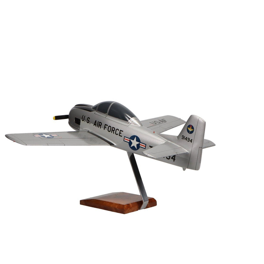 Aircraft Models - North American T-28A Trojan  U.S. Air Force Limited Edition Large Mahogany Model