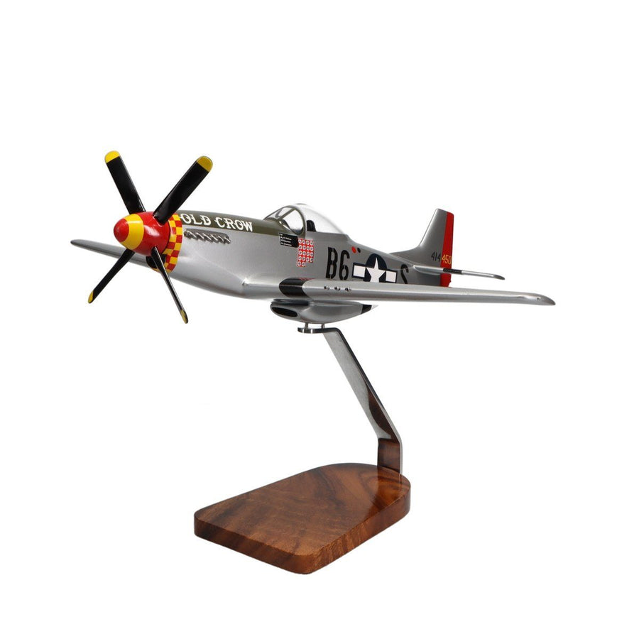 Aircraft Models - P-51 Mustang Clear Canopy Limited Edition Large Mahogany Model