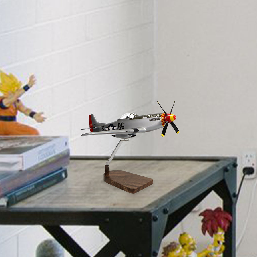 Northrop Grumman P-51 Mustang Clear Canopy Limited Edition Large Mahogany Model