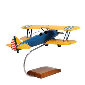 Aircraft Models - PT-17 Stearman Limited Edition Large Mahogany Model