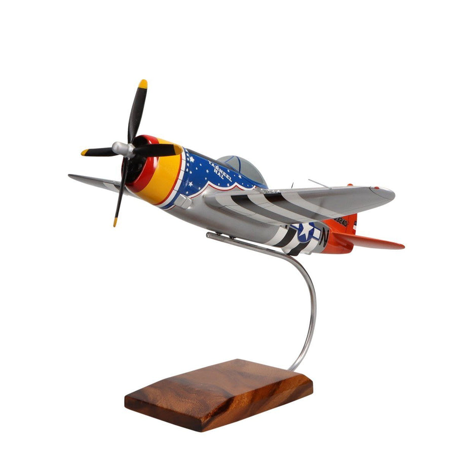 Aircraft Models - Republic P-47 Thunderbolt Limited Edition Large Mahogany Model