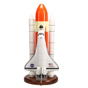 Aircraft Models - Space Shuttle F/S Atlantis Limited Edition Large Mahogany Model