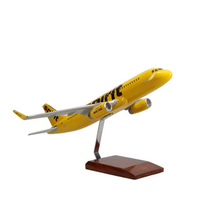 Aircraft Models - Spirit Airlines Airbus A320-200 Limited Edition Large Mahogany Model