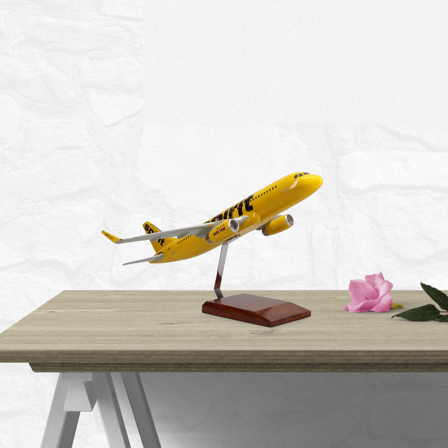 Airbus A320-200 Spirit Airlines Limited Edition Large Mahogany Model