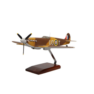 Aircraft Models - Supermarine Spitfire Limited Edition Large Mahogany Model