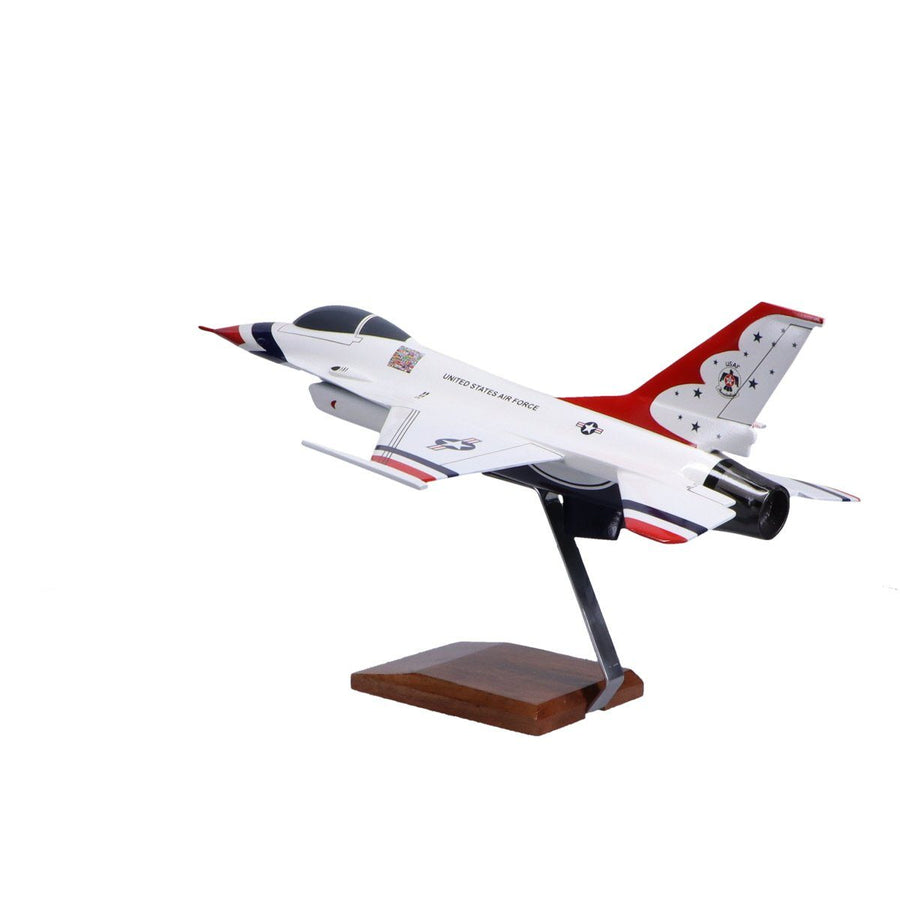Aircraft Models - USAF Thunderbirds F-16C Fighting Falcon Limited Edition Large Mahogany Model
