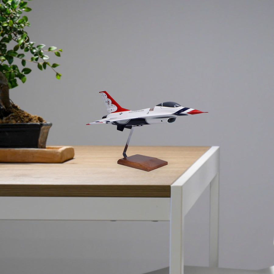General Dynamics F-16C USAF Thunderbirds Limited Edition Large Mahogany Model