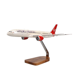 Aircraft Models - Virgin Atlantic 787-9 Birthday Girl Limited Edition Large Mahogany Model