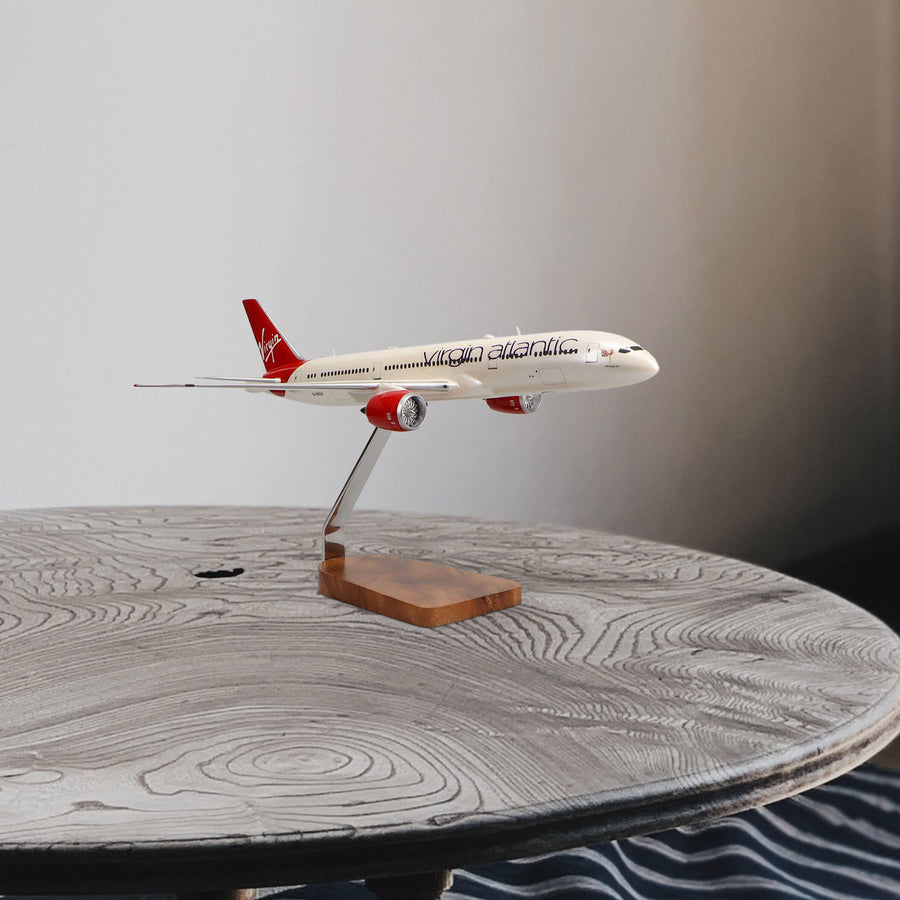 Boeing 787-9 Virgin Atlantic Birthday Girl Limited Edition Large Mahogany Model