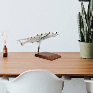 Virgin Galactic White Knight Two carrying SpaceShipTwo Limited Edition Large Mahogany Model