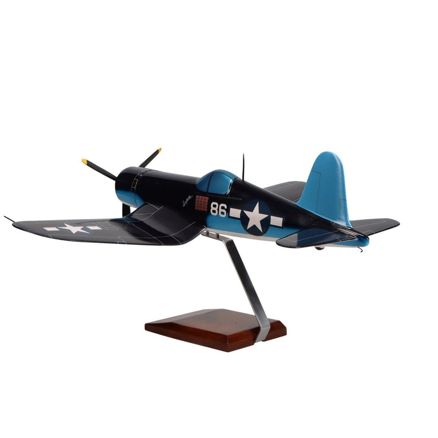"Aircraft Models - Vought F4U-1A Corsair ""Pappy Boyington"" Limited Edition Large Mahogany Model"