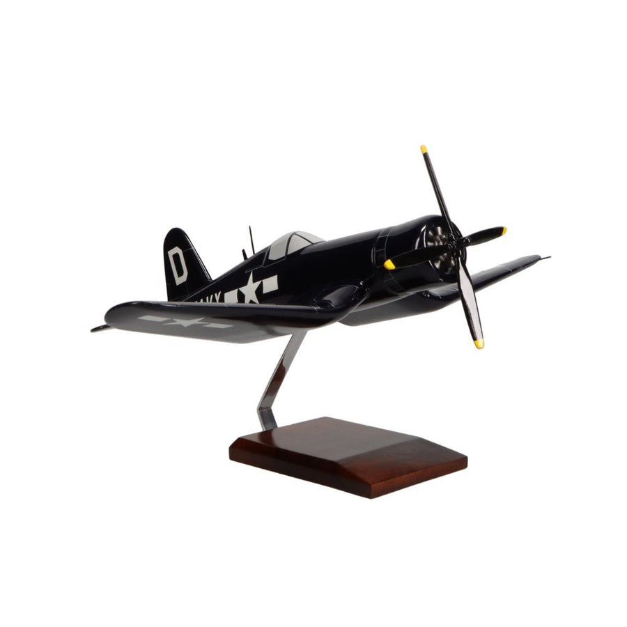 Aircraft Models - Vought F4U-4 Corsair U.S. Navy Limited Edition Large Mahogany Model
