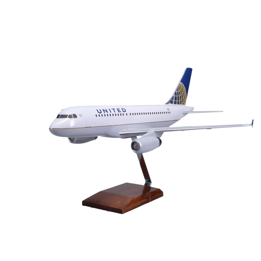 Airbus A319-100 United Airlines Limited Edition Large Mahogany Model