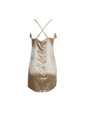 Golden Silk Short Halter Dress