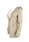 Light Brown Leather Hooded Coat