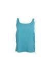 Simple Sleeveless Turquoise Top
