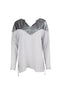 Shiny Grey Long Sleeve Grey Top