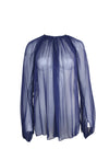 Sheer Indigo Long Sleeve Top