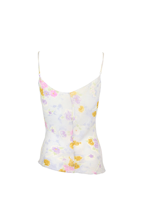 Yellow and Purple Floral Tank Top