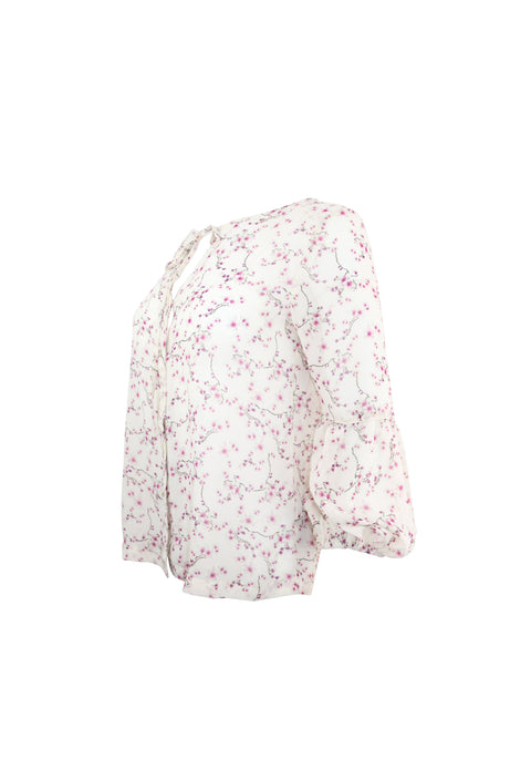 Off White Cherry Blossom Long Sleeve Top