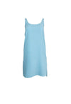 Light Blue Cotton Sleeveless Dress