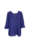 Indigo Blue Long Sleeve Tunic Top