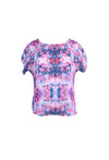 Purple and Pink Pattern Short Sleeve Top