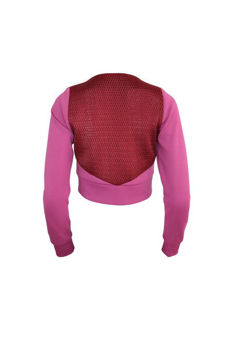 Magenta and Red Two Toned Crop Jacket