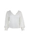 White Balloon Sleeve Blouse