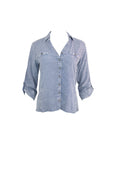 Long Sleeve Light Blue Denim Shirt