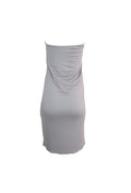 Grey Strapless Bodycon Dress