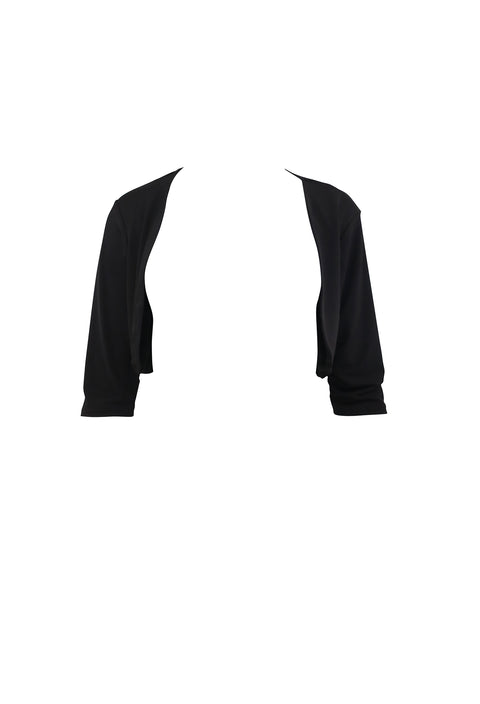 Plain Black Long Sleeve Cardigan